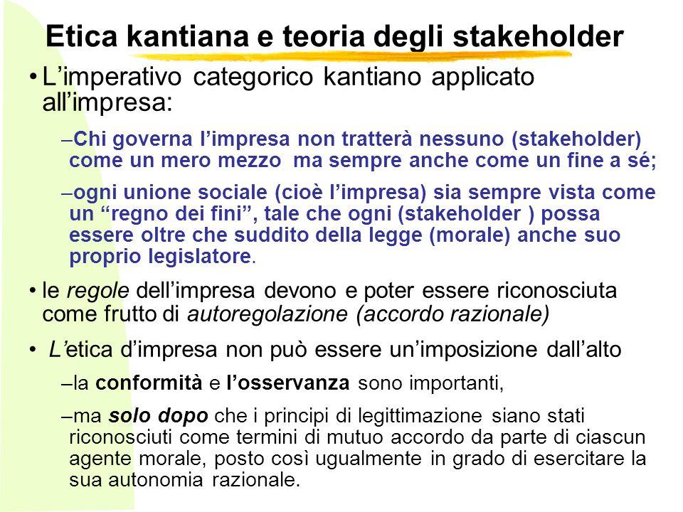 Etica kantiana e teoria degli stakeholder