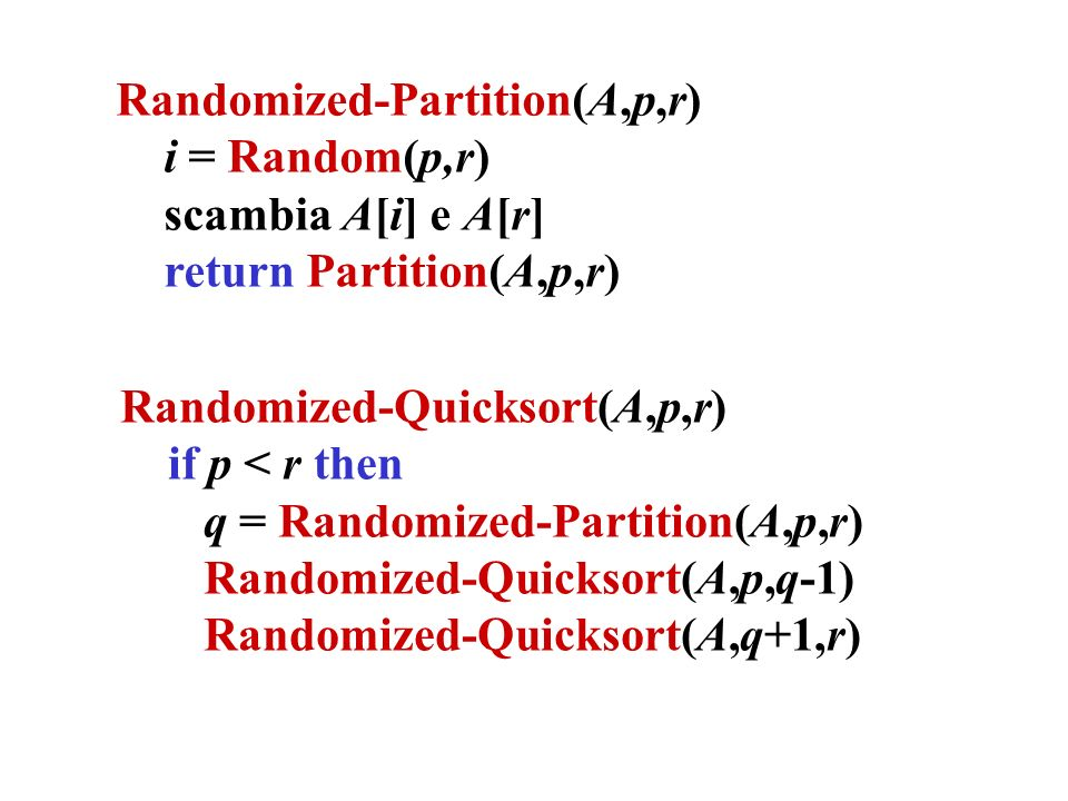 Randomized-Partition(A,p,r)