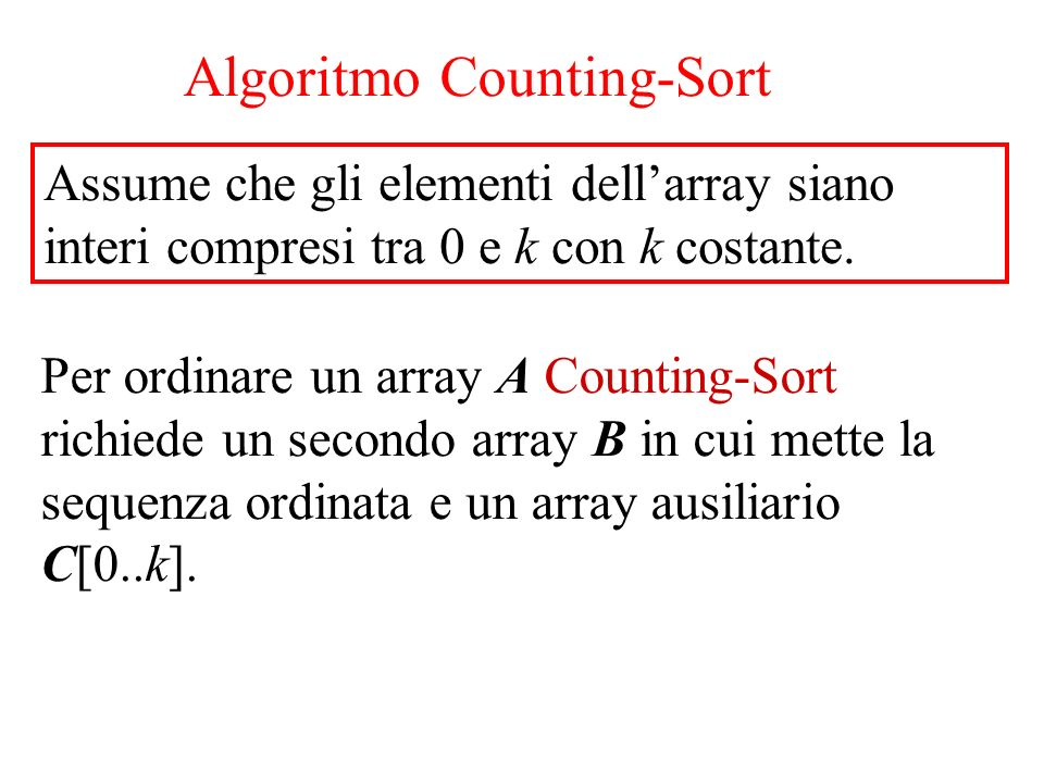Algoritmo Counting-Sort