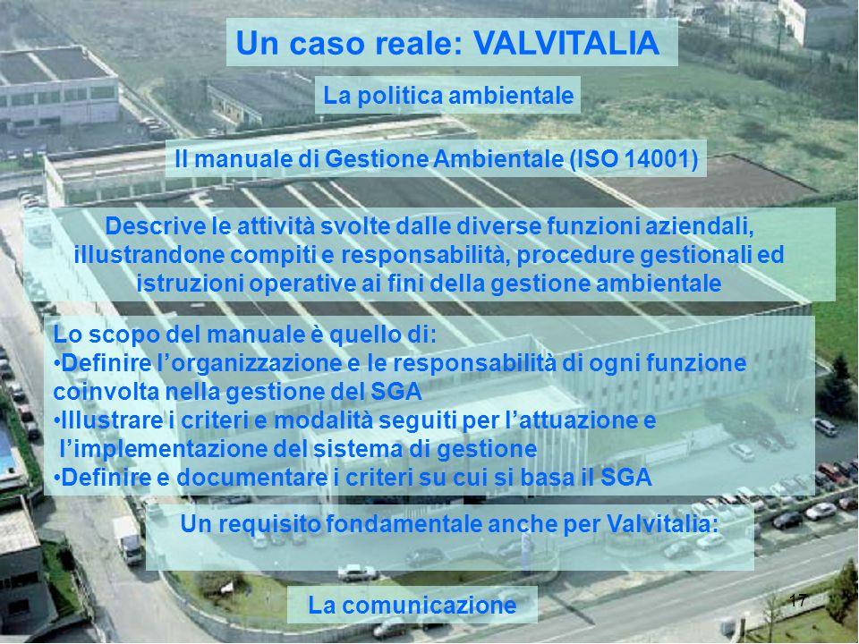 Un requisito fondamentale anche per Valvitalia: