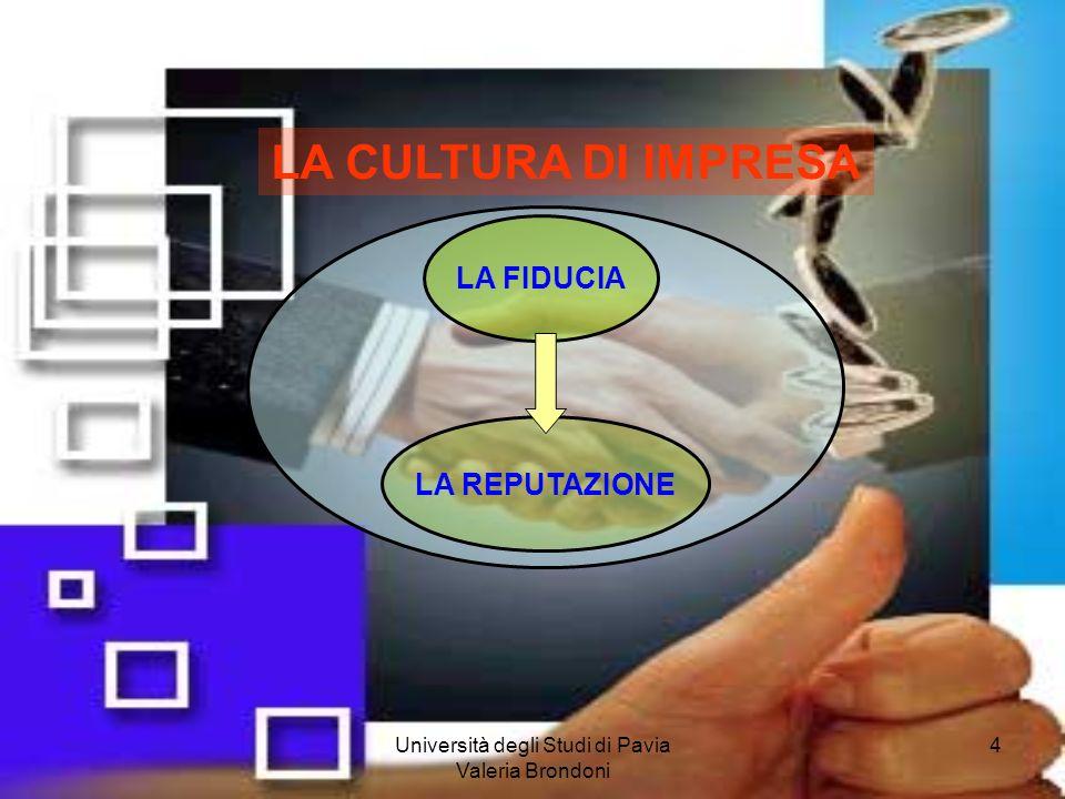 Università degli Studi di Pavia Valeria Brondoni