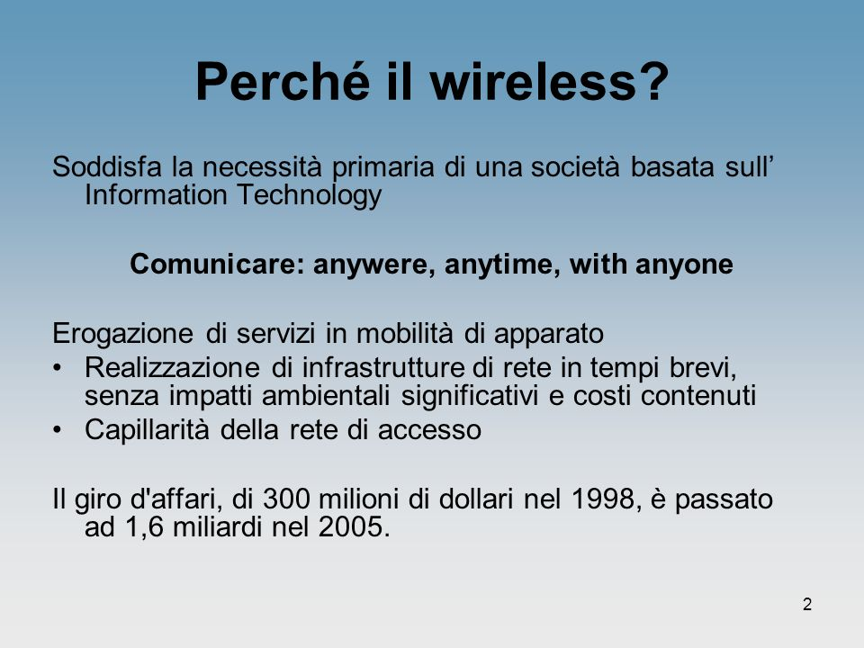 Comunicare: anywere, anytime, with anyone