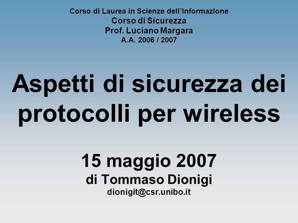 di Tommaso Dionigi - Corso di Sicurezza - A.A. 2006/2007