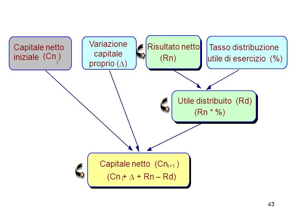 Variazione capitale proprio ()