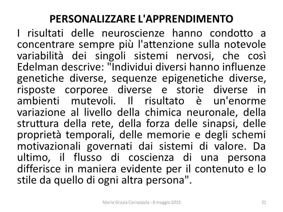 Maria Grazia Carnazzola - 8 maggio 2013