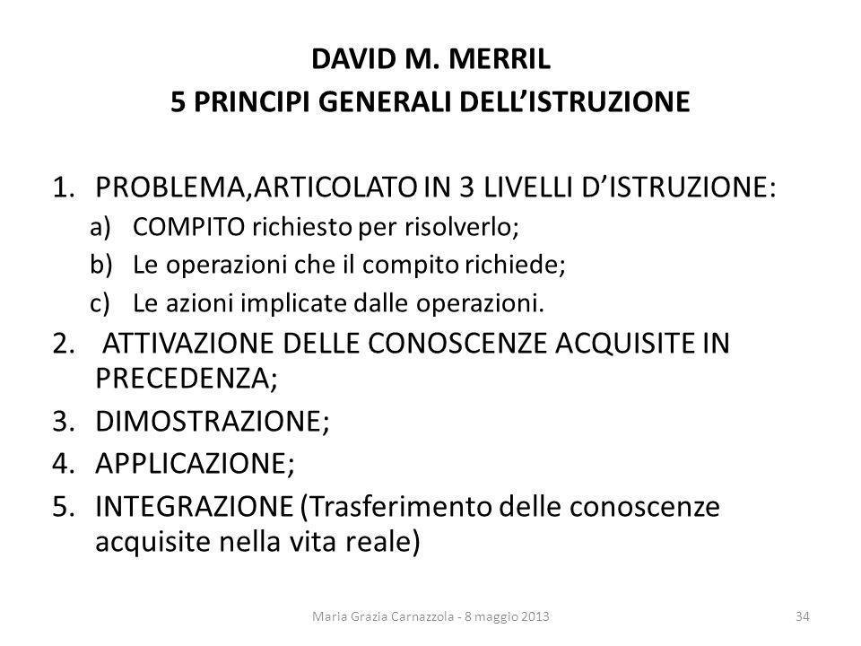 5 PRINCIPI GENERALI DELL'ISTRUZIONE