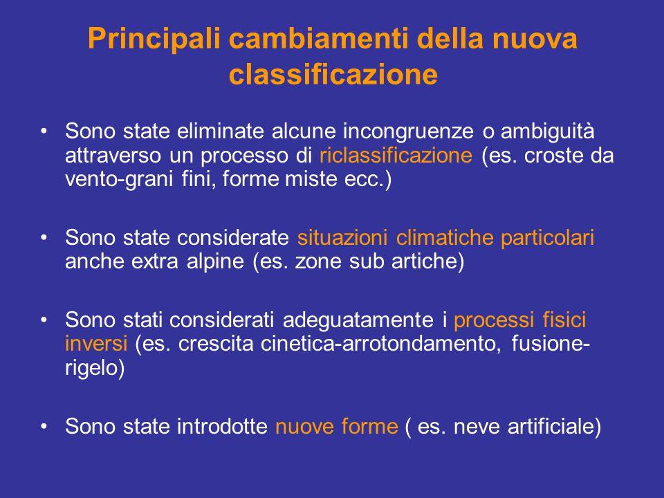 Principali cambiamenti della nuova classificazione