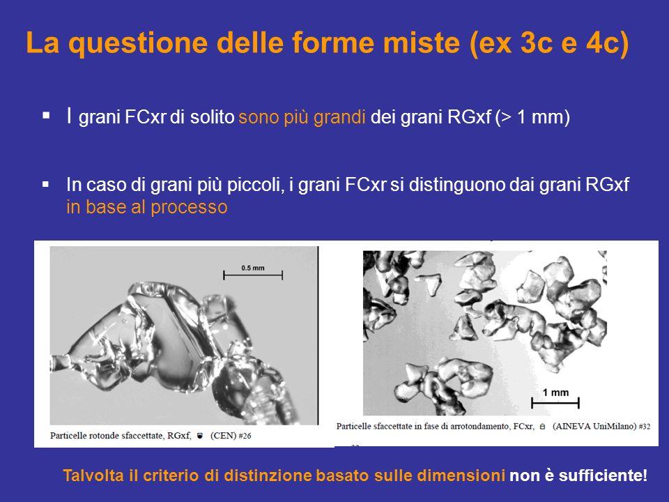 La questione delle forme miste (ex 3c e 4c)