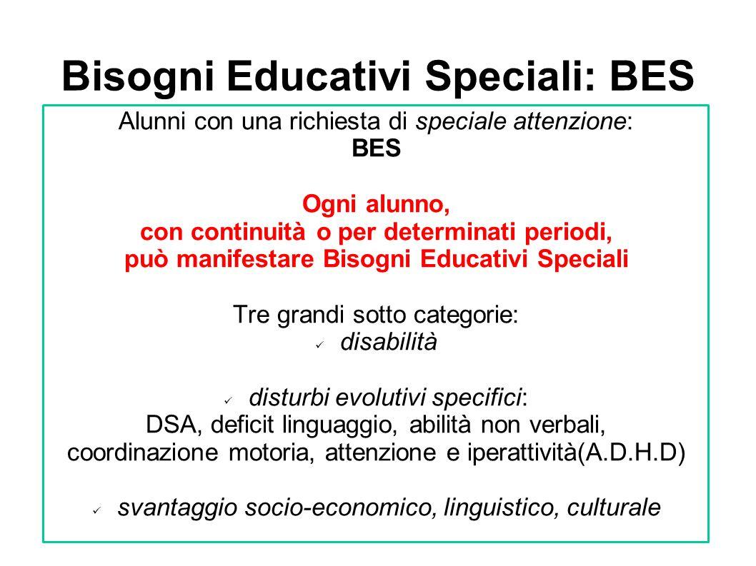 Bisogni Educativi Speciali: BES