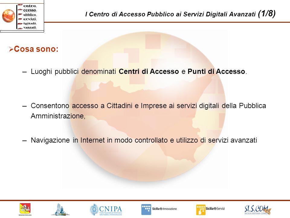 I Centro di Accesso Pubblico ai Servizi Digitali Avanzati (1/8)