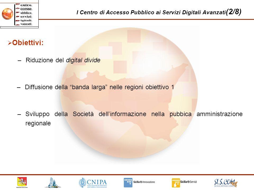 Obiettivi: Riduzione del digital divide