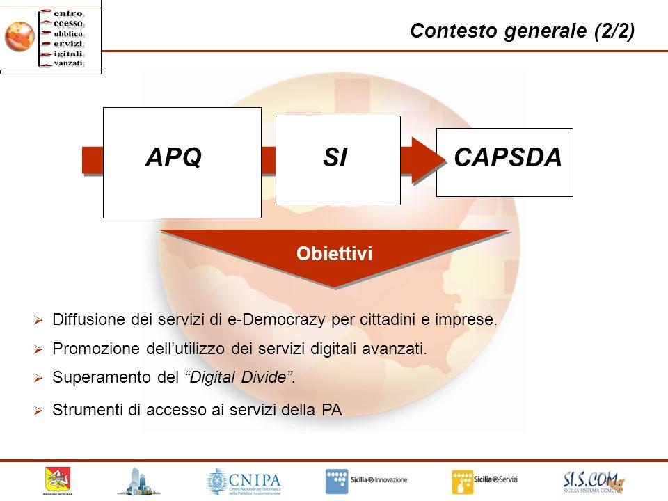 APQ SI CAPSDA Contesto generale (2/2) Obiettivi