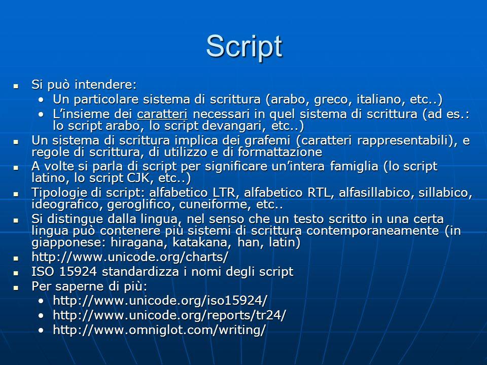 Script Si può intendere: