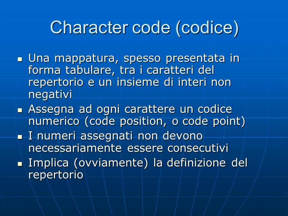 Character code (codice)