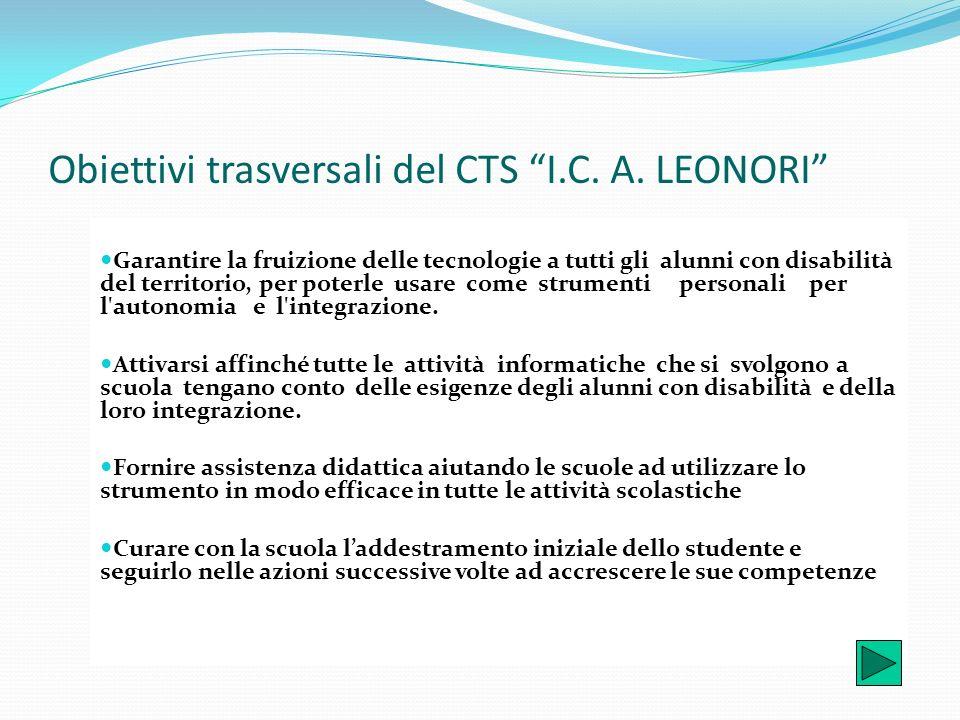 Obiettivi trasversali del CTS I.C. A. LEONORI