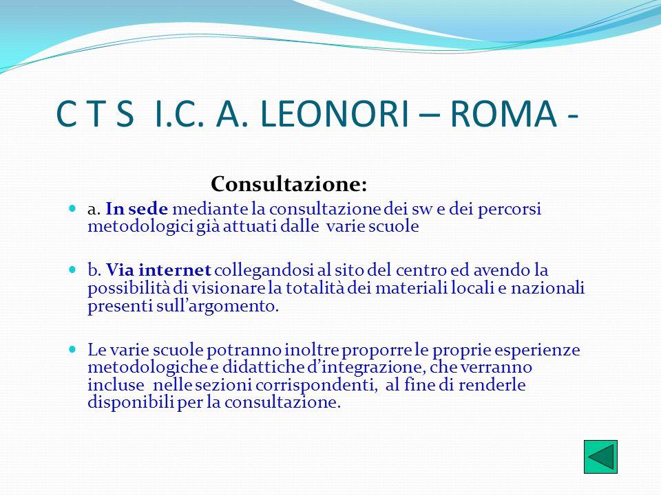 C T S I.C. A. LEONORI – ROMA - Consultazione: