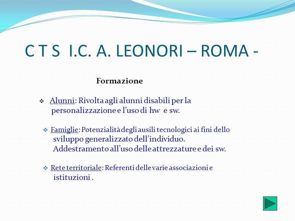 C T S I.C. A. LEONORI – ROMA - Formazione