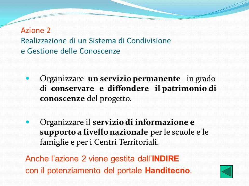 Azione 2 Realizzazione di un Sistema di Condivisione e Gestione delle Conoscenze
