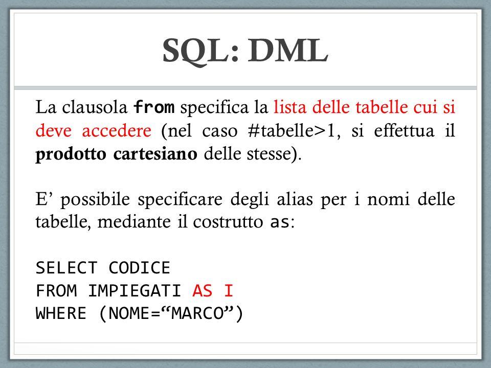 SQL: DML