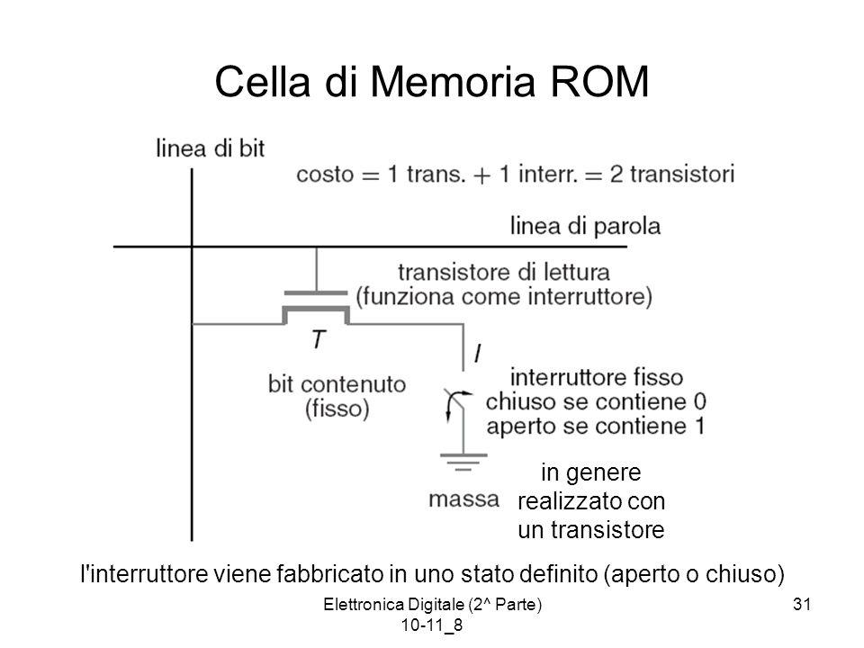 Cella di Memoria ROM in genere realizzato con un transistore