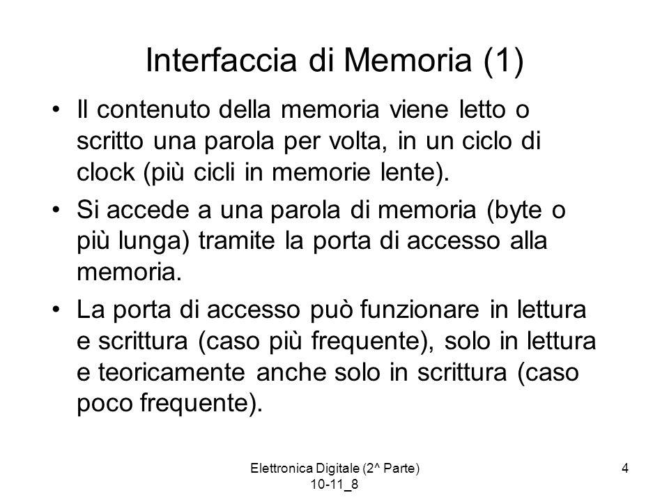Interfaccia di Memoria (1)