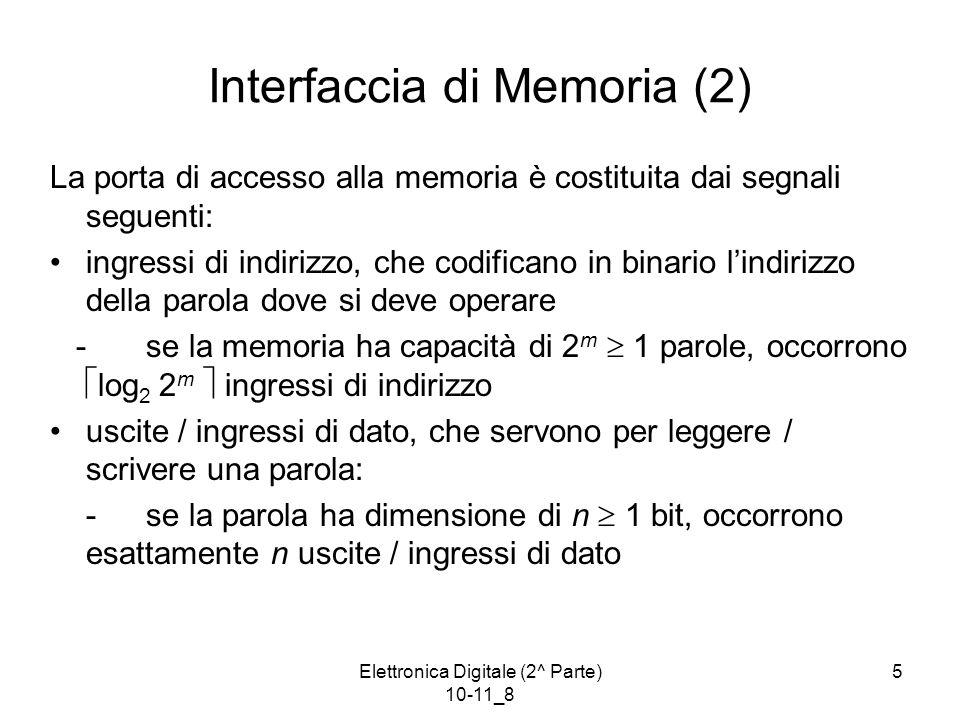Interfaccia di Memoria (2)