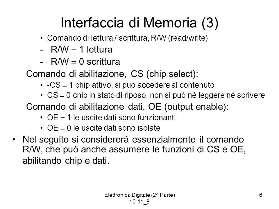 Interfaccia di Memoria (3)