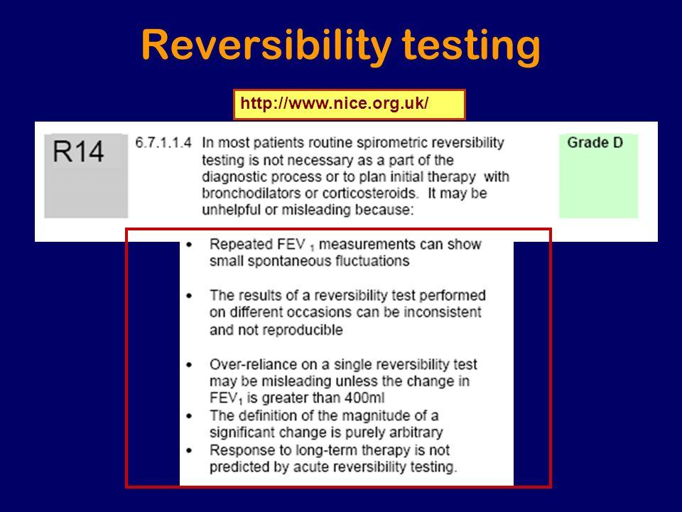 Reversibility testing