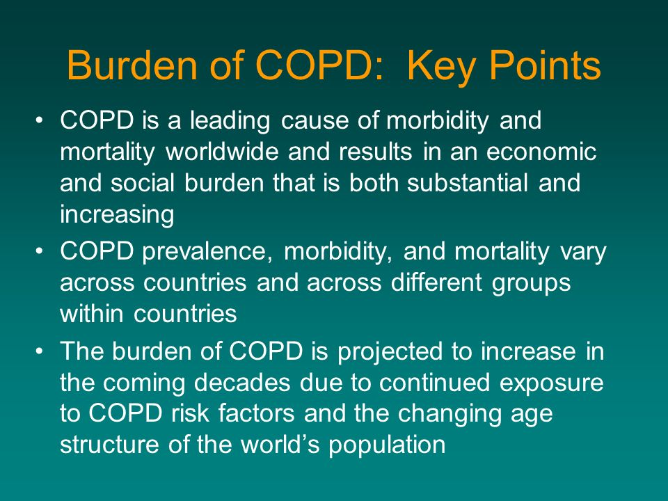 Burden of COPD: Key Points