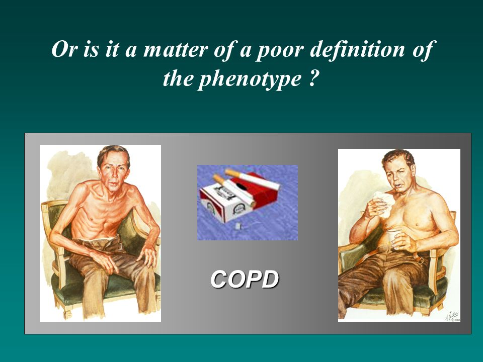 Or is it a matter of a poor definition of the phenotype