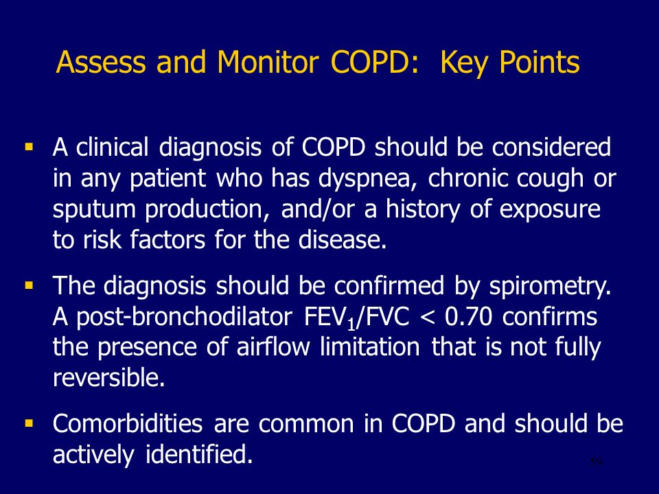 Assess and Monitor COPD: Key Points