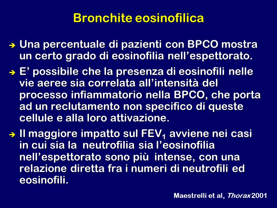 Bronchite eosinofilica