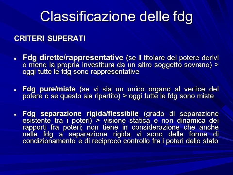 Classificazione delle fdg
