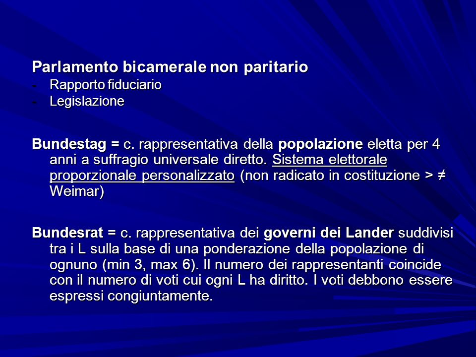 Parlamento bicamerale non paritario
