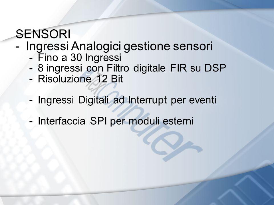 Ingressi Analogici gestione sensori