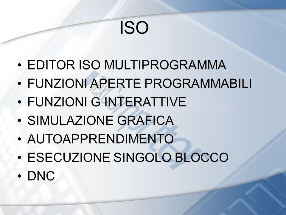 ISO EDITOR ISO MULTIPROGRAMMA FUNZIONI APERTE PROGRAMMABILI