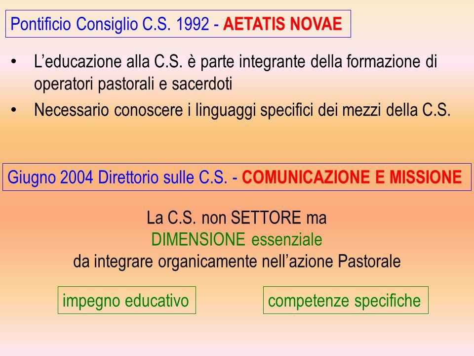 Pontificio Consiglio C.S. 1992 - AETATIS NOVAE