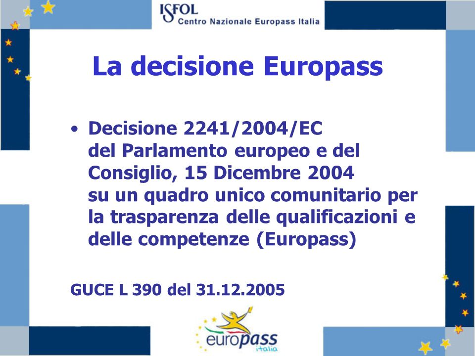 La decisione Europass