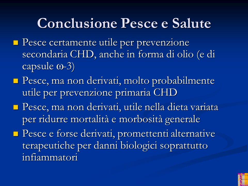 Conclusione Pesce e Salute