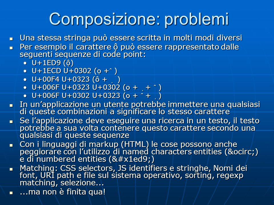 Composizione: problemi