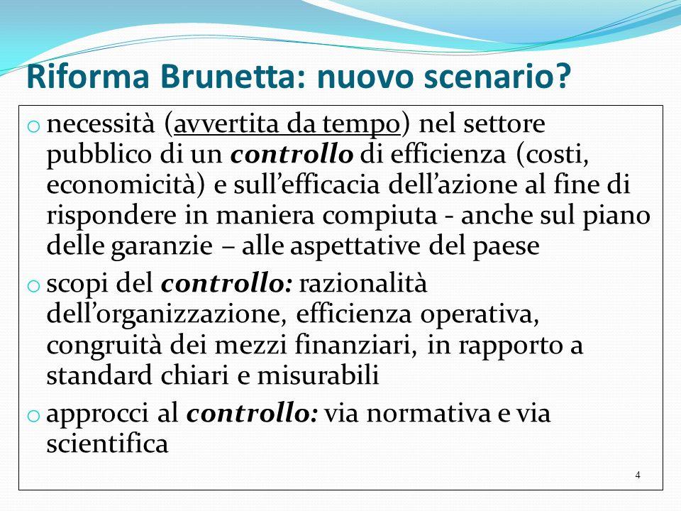 Riforma Brunetta: nuovo scenario