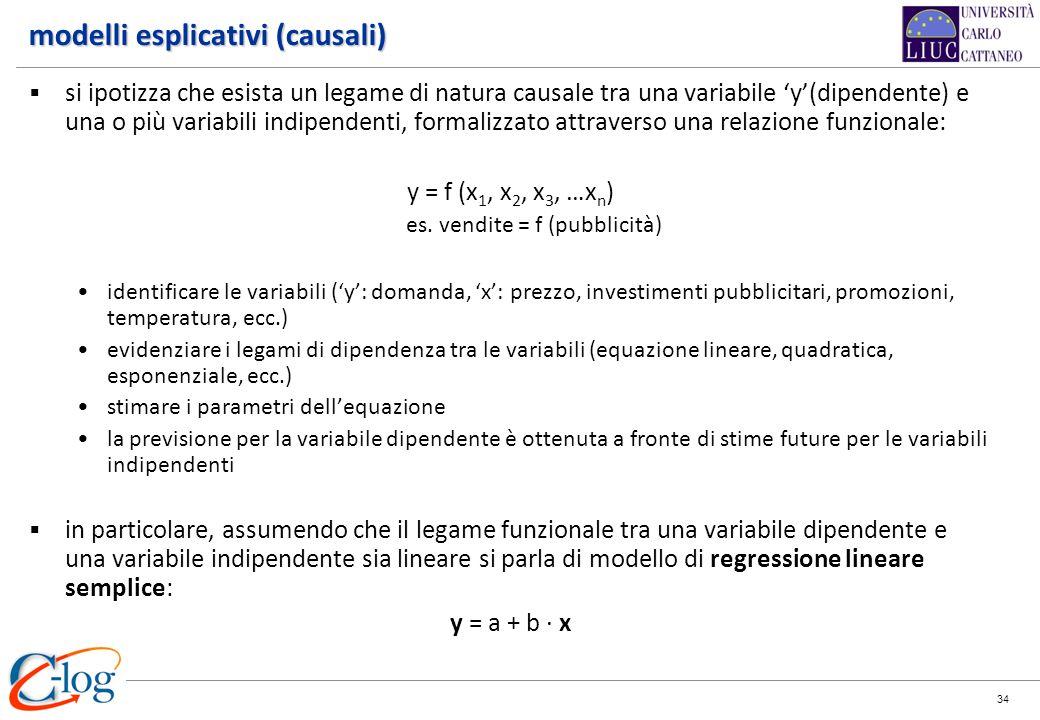 modelli esplicativi (causali)
