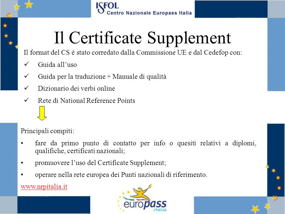 Il Certificate Supplement