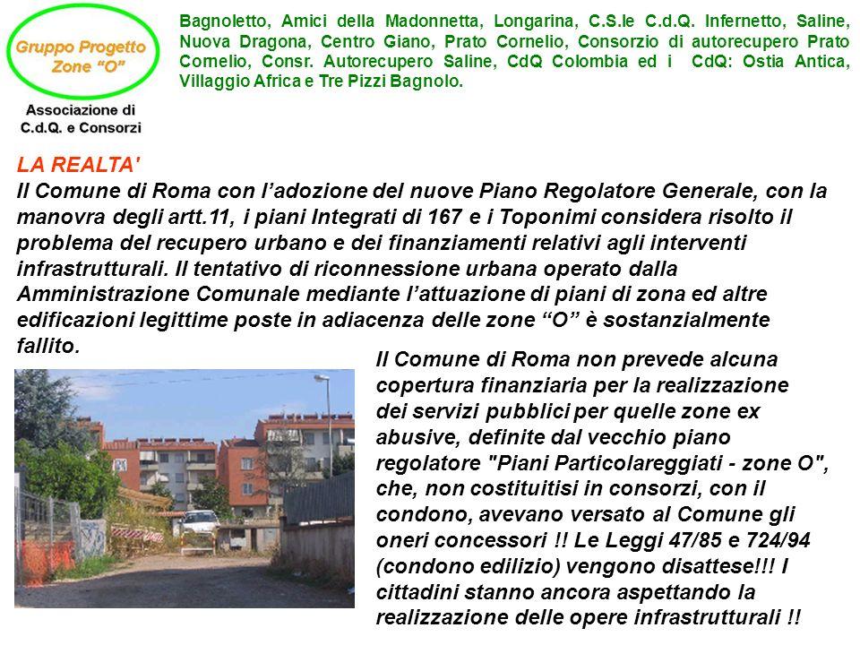 Bagnoletto, Amici della Madonnetta, Longarina, C. S. le C. d. Q