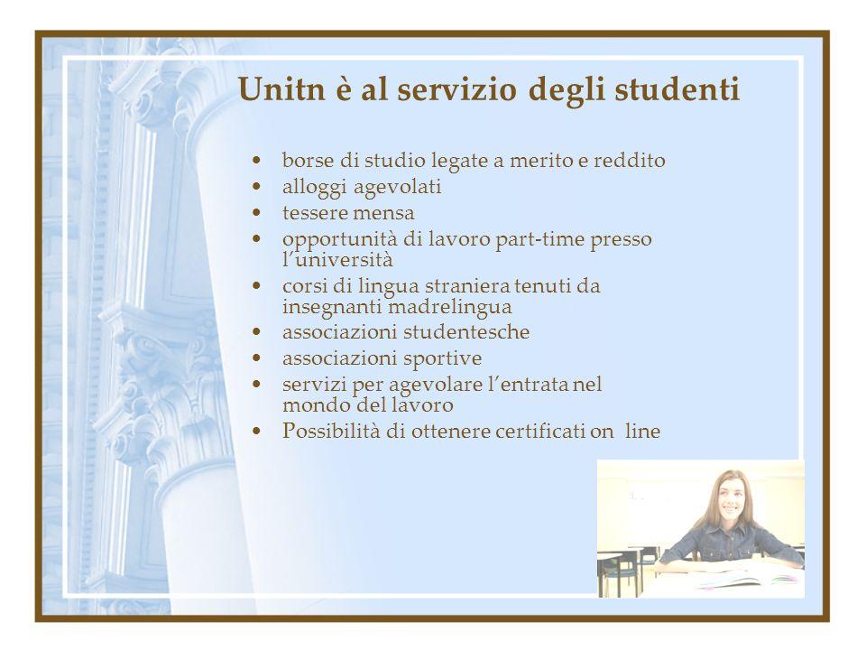Unitn è al servizio degli studenti