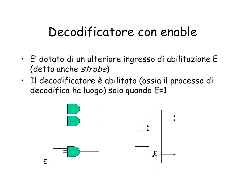 Decodificatore con enable