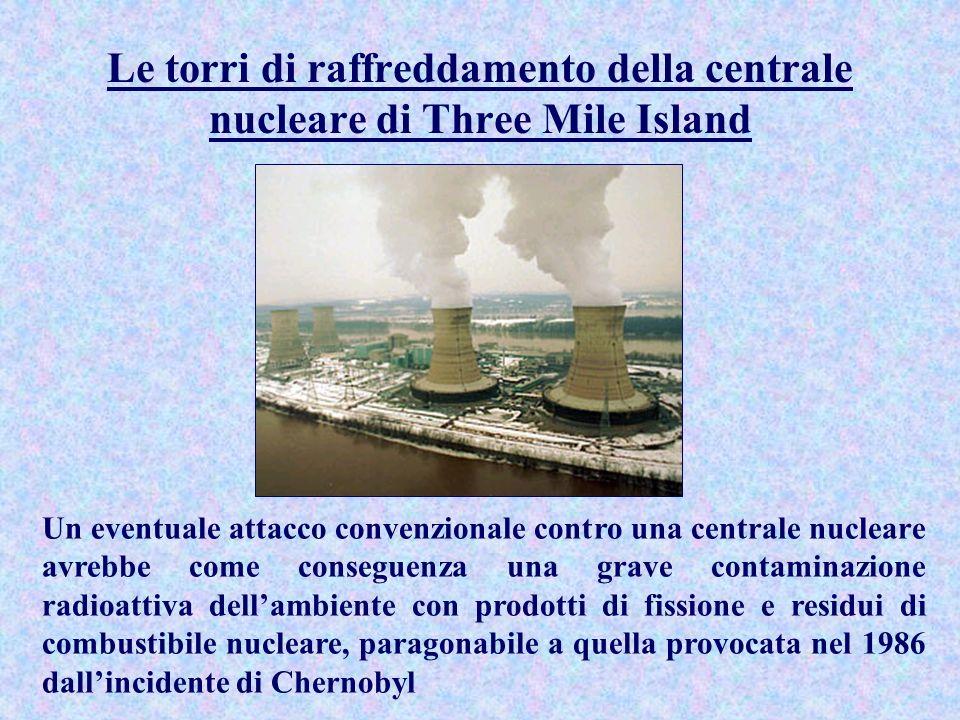 Le torri di raffreddamento della centrale nucleare di Three Mile Island