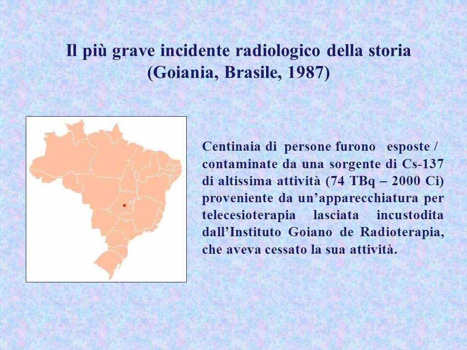 Il più grave incidente radiologico della storia (Goiania, Brasile, 1987)