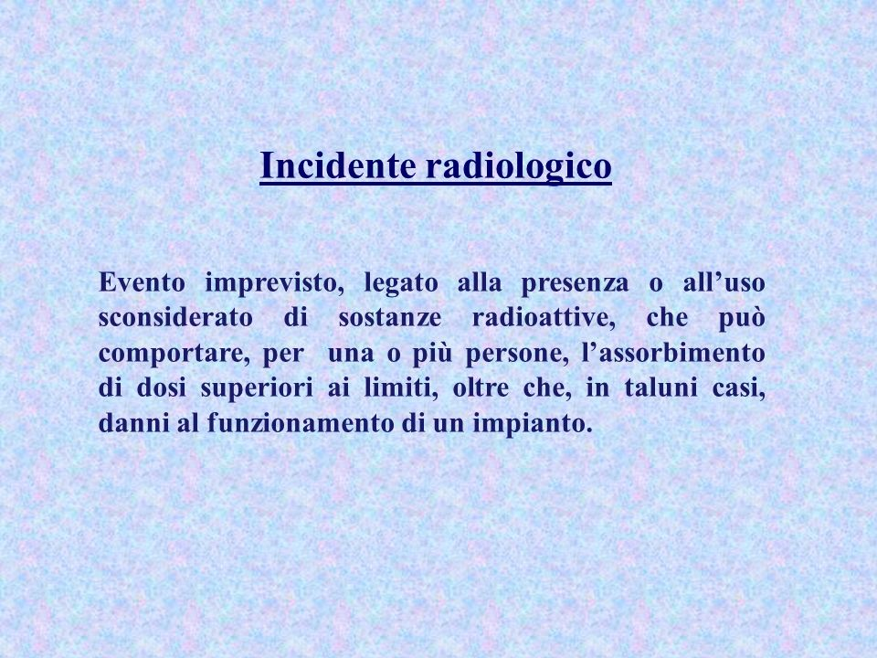 Incidente radiologico
