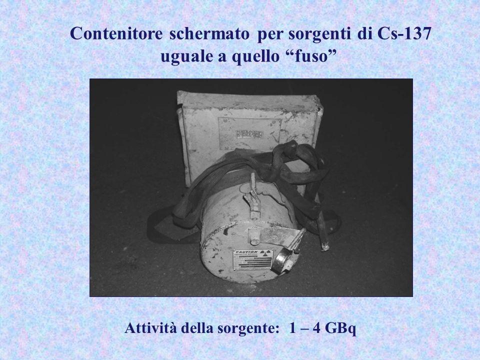 Contenitore schermato per sorgenti di Cs-137